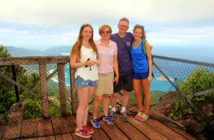 my incredible family in seychelles