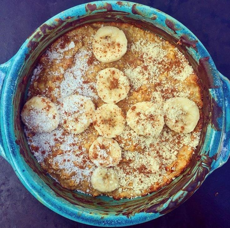 baked oats banana